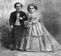 Tom Thumb and his wife, Lavinia Warren
