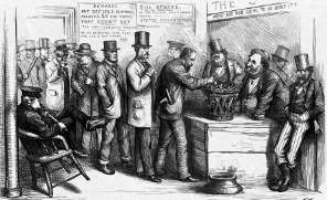Thomas Nast Cartoon of Tweed Collecting Votes