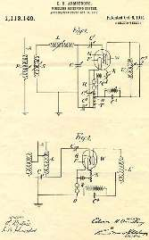 Armstrong's patent for the regenerative circuit