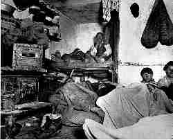 Inside a tenement room