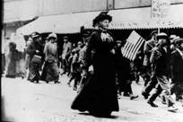Mother Jones leading a protest march