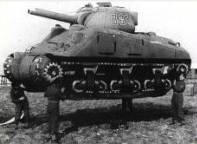 An inflatable tank that was used to deceive the Germans