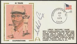 Satchel Paige cover on the 40th anniversary of the Hall of Fame