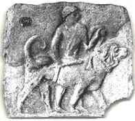 Ancient depiction of a Molossus